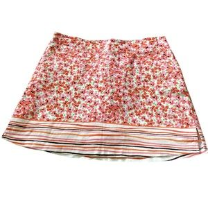 Lady Hagen pink and orange floral golf skort